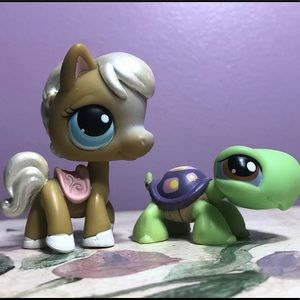 Other - Littlest Pet Shop LPS Pony and Turtle